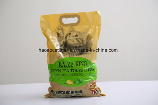 Tofu Cat Litter (green tea) --Clumping and Toliet Directly pictures & photos