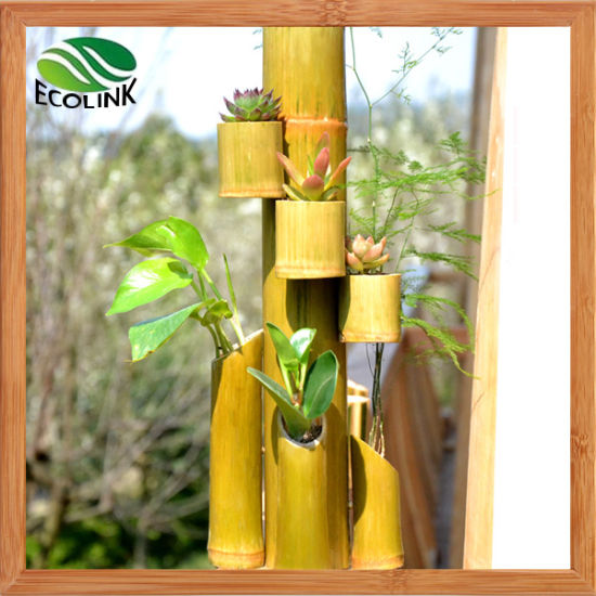China Natural Bamboo Flower Vase Bamboo Combination Pot China