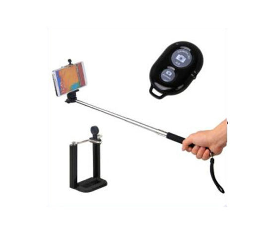 Portable Selfie Holder Handheld New Bluetooth Monopod Stick