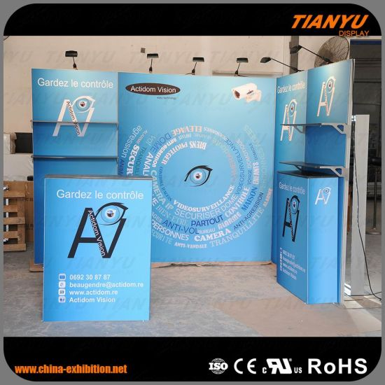 3X3 Exhibition Tension Fabric Display Booth pictures & photos