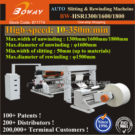 1300mm 1600mm 1800mm Full Automatic Roll Paper Adhesive Tape Slitting and Rewinding Machine pictures & photos