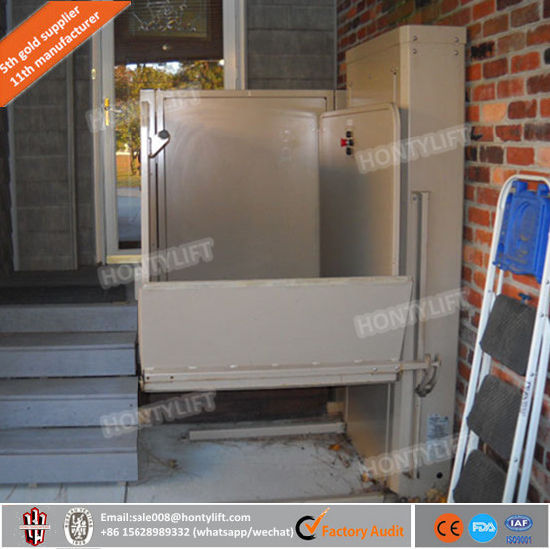 Home Elevator Vertical Wheelchair Lift Platform Stair Climbing Lift Tables Elevator for Homes Disabled Lift pictures & photos