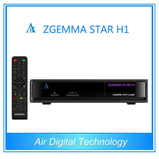 Original Satellite Receiver Software Download Zgemma-Star H1 Twin Tuner Set  Top Box
