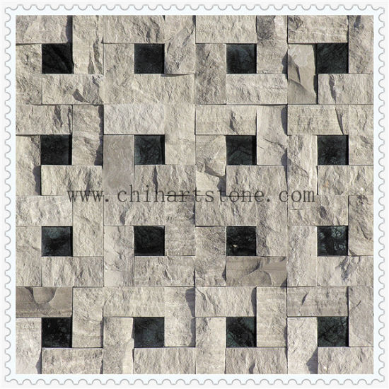Marble Stone Mosaic 3D Polished and Split Finishes for Wall pictures & photos