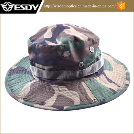 66bfabb2f332f Hunting Army Marine Bucket Jungle Cotton Hat Cap Woodland Camo pictures    photos