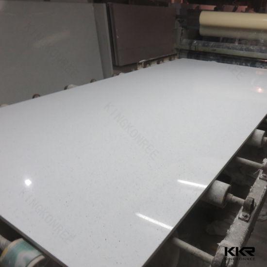 China Sparkle White Quartz Flooring Tile Artificial Quartz Stone