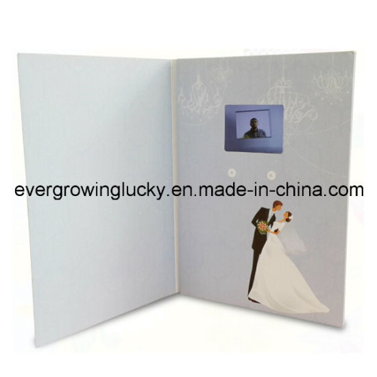 LCD Screen Video Wedding Card for Invitation pictures & photos