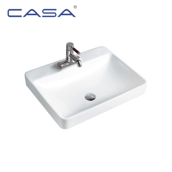 Ceramic Shallow Sink Countertop Basin