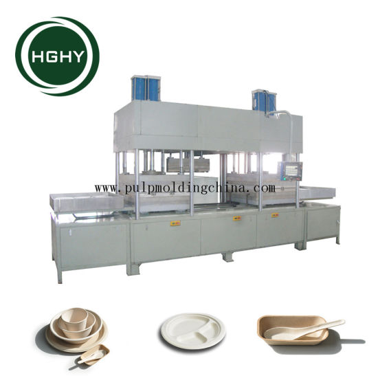 Hghy Good Price Sugarcane Bagasse Pulp Paper Plate Making Machine  sc 1 st  HGHY PULP MOLDING PACK CO. LTD. & China Hghy Good Price Sugarcane Bagasse Pulp Paper Plate Making ...