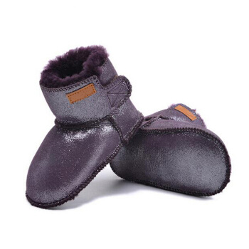Fur Winter Baby Shoes, Lambskin Infant Boot Indoor, Toddler Snow Booties