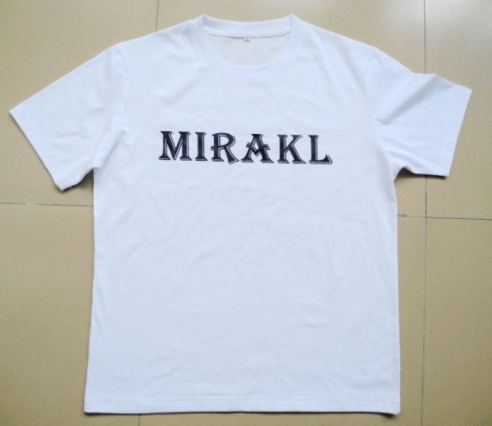 Printed White Cotton T-Shirts for Men (M290) pictures & photos