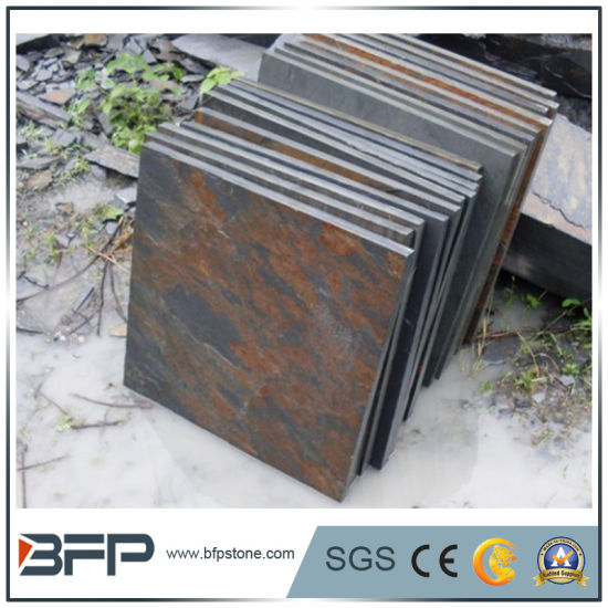Popular Culture Stone/ Ledge Stone Yellow Rusty Slate for Floor Tile Flooring, Wall, Roof pictures & photos