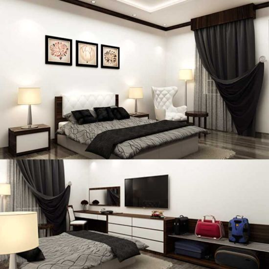 Foshan Luxury Hotel Bedroom Furniture/Luxury Kingsize Bedroom Furniture/Commercial Hotel Furniture/Double Hospitality Guest Room Furniture (CRHN-00178)
