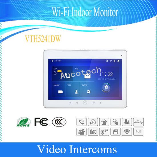 Dahua Video Intercoms 10'' Touch Screen Wi-Fi Indoor Monitor (VTH5241DW)