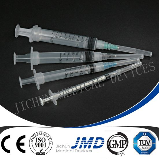 1ml/2ml/3ml/5ml/10ml/20ml/50ml Luer Slip or Luer Lock Disposable Syringe pictures & photos
