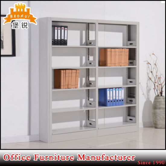 Library Book Furniture Double Side Face Steel Bookshelves Rack Jas-064 pictures & photos