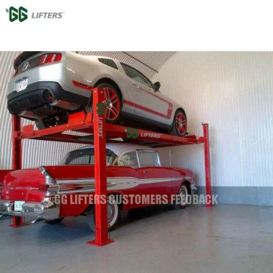 Manual Release Hydraulic 4 Post Auto Parking Car lift on
