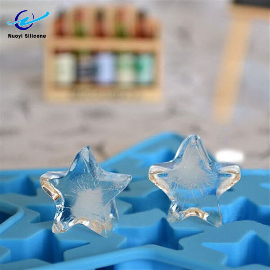 Star Shape Silicone Ice Tray Mould for Bar Pub and Party