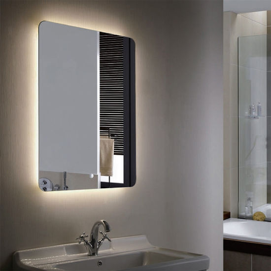 Mirror Silver 5mm Copper Free Silver Mirror Polished Edges Anti-Corrosion Mirrors Bathroom Multifunctional LED Bathroom Smart Mirror