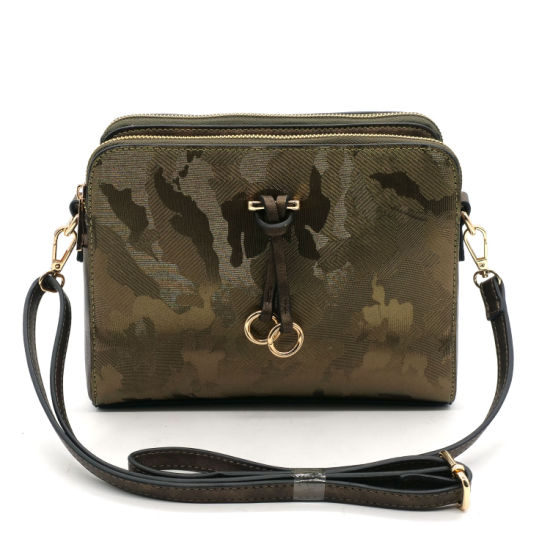 Womens Leather Ladies Handbag Real Leather Cross Body Bag with Adjustable Strap