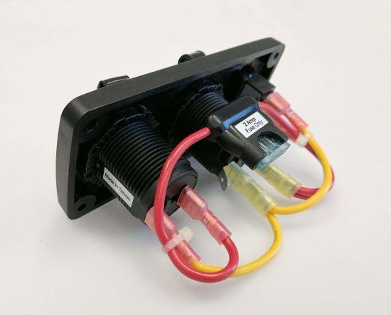 2 USB ports w//Watertight Cap PN 1016 NEW BLUE SEA DUAL USB CHARGER SOCKET