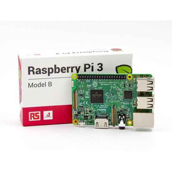 RS Version Raspberry Pi 3 Model B 1GB RAM Quad Core 1 2GHz 64bit CPU WiFi &  Bluetooth