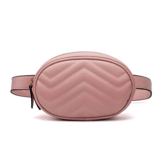 2019 New Designer Waist Bag Women Round Belt Leather Chest Handbag Running Outdoor Hiking