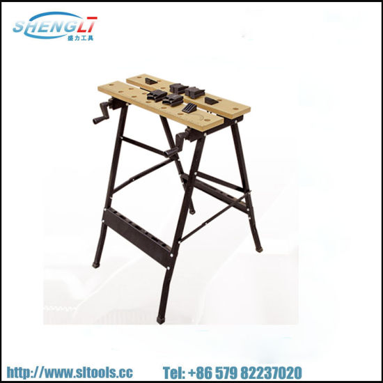 Folding Work Bench Table Tool Workshop Repair Tools Table Shop Workbench Vice Portable Work Table Bench Clamping Workmate Worktop 150kg 20 Square (SL-WB004)