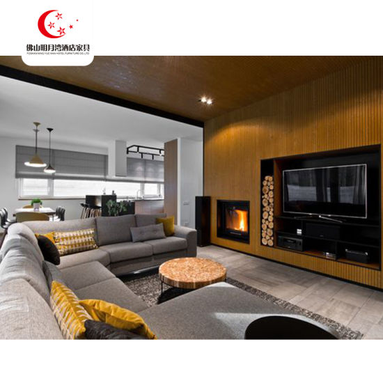 Commercial Hotel Use High Quality 3/4/5 Star Wood Modern Hotel Lobby Furniture