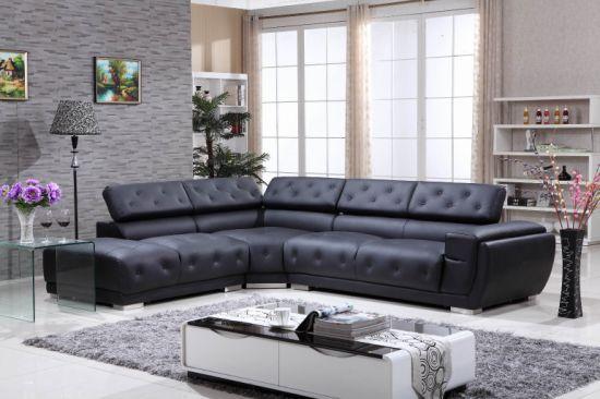 2019 Latest Design Sectional Leather Modern Corner Contemporary Corner  Lounge Suites Genuine Leather Corner Sofa Set Leisure Latest Corner  American ...