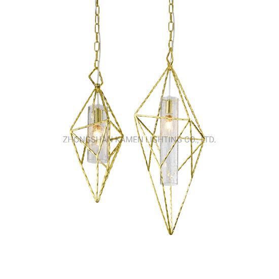 Light Luxury Personality Glass Living Room Bar Restaurant Pendant Light (Km4001)