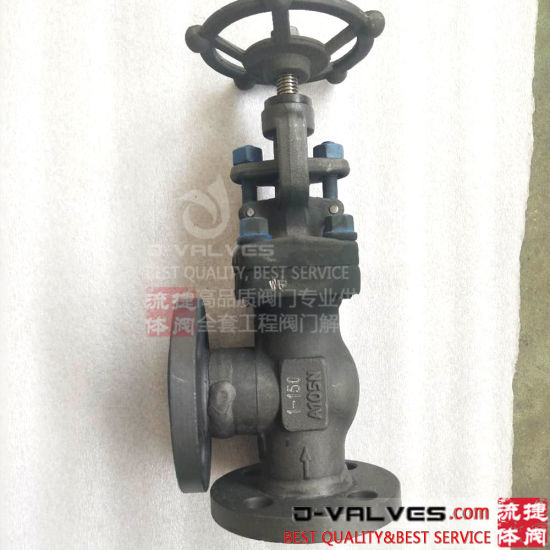 ANSI API DIN Stainless Steel/Cast Iron/A105 Flanged Ends Angle Type Check Globe Valve J-Valves