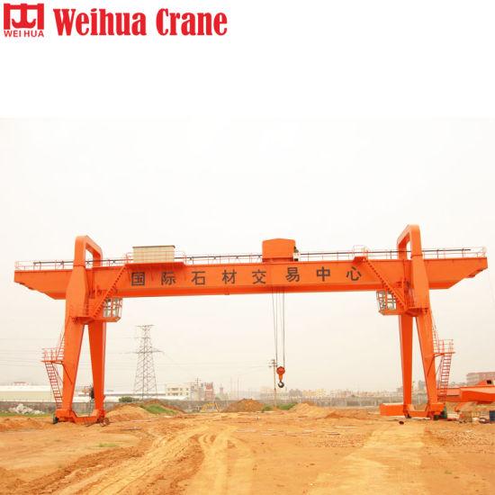60 Ton Wide Span Double Girder Electric Hoist Trolley Gantry Crane
