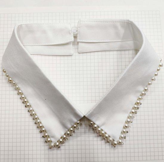 Pearl Decorative Beaded Detachable Collar for Garments