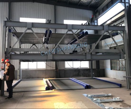 Lift-Sliding Parking System-Three Levels with Pit Psh