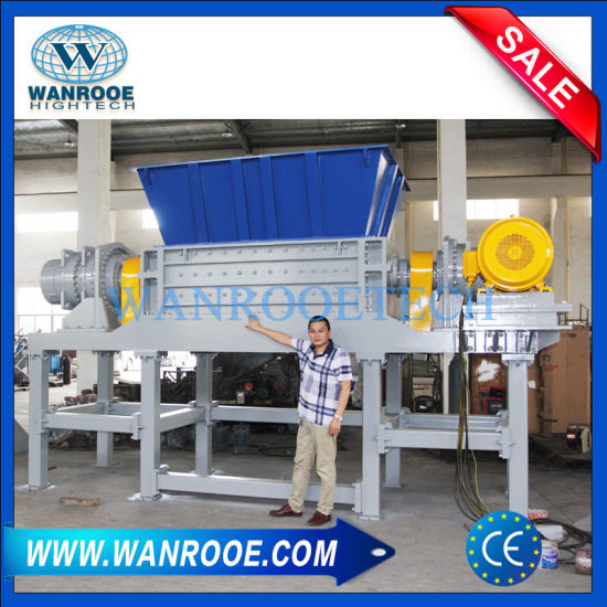 Double Shaft Plastic Shredder Machine for Waste Tire/Bag/Bottle/Wood/Metal pictures & photos