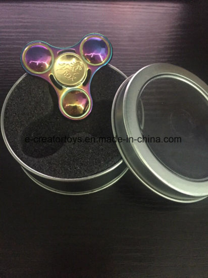 Hot Selling Alloy Fidget Spinner with Gem for 2 Color in Best Funny Toys /Gift pictures & photos