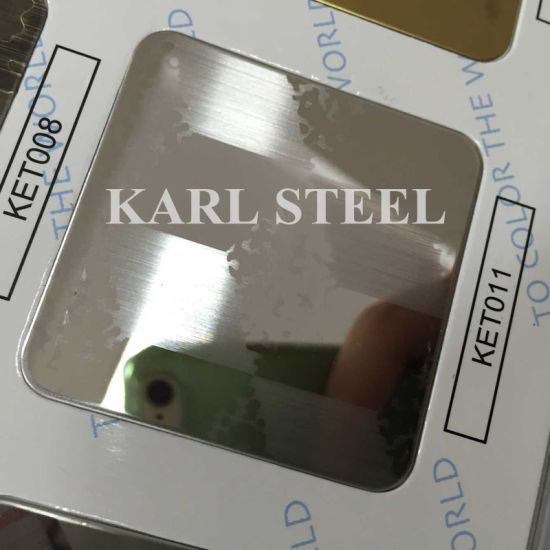 201 Stainless Steel Silver Color Hairline Kbh004 Sheet pictures & photos