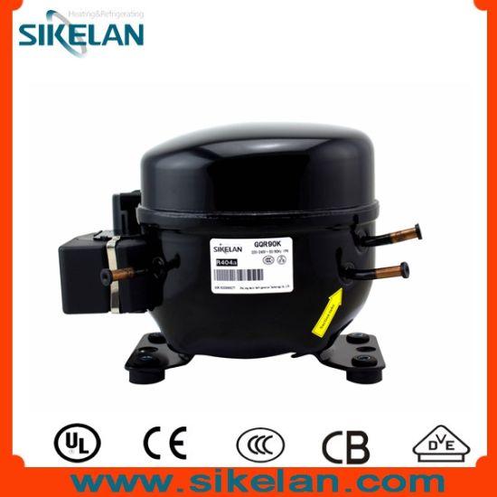 R404A Deep Freezer Refrigerator Fridge 220V AC Hermetic Refrigeration  Compressor Gqr90k 1/2HP 515W