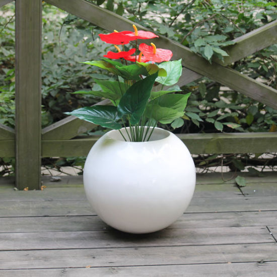 Fo-186 Round Decorative Fiberglass Planter for Indoor and Outdoor pictures & photos