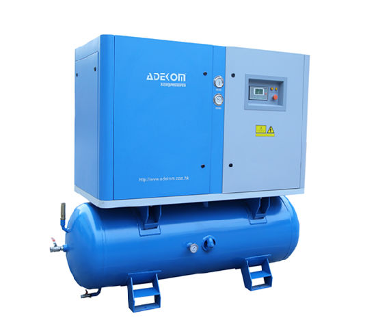 Lubricated Stationary All-in-One Screw Air Cooling Compressor (KA11-13D) pictures & photos