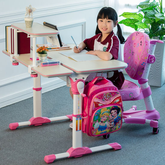 Childrens Study Desk Chair Table Set Tiltable Height Adjustable