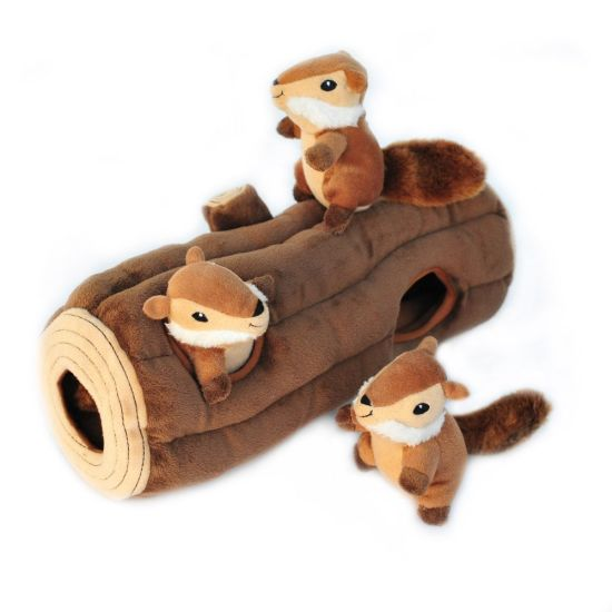 Plush Squirrel Squeaky Hide and Seek Dog Toy Pet Toy