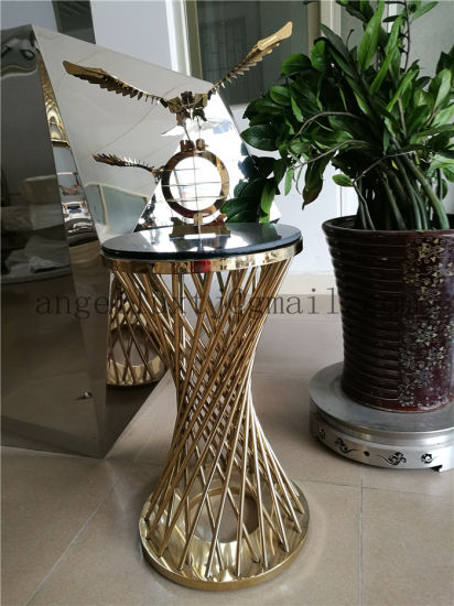 Modern Stainless Steel Furniture Gold Color Table Legs Laser Cutting Parts Foshan of China Supplier pictures & photos