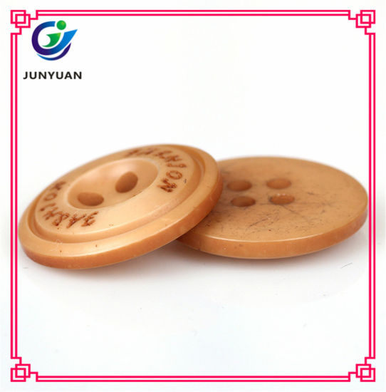 Men Resin Overcoat Button Round 4holes Button