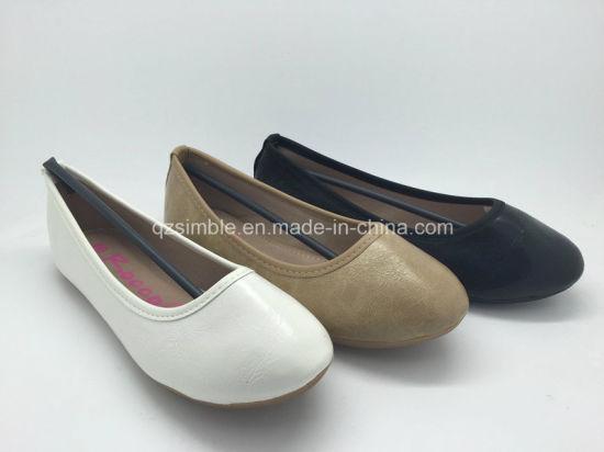 Round Toe Good Quality Girls Flat Shoes Ballerina