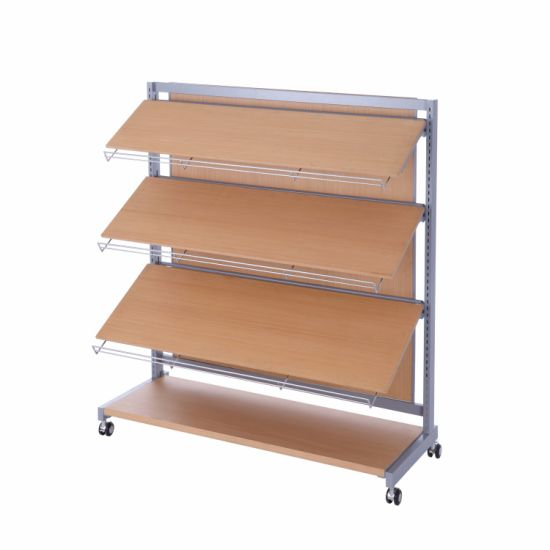 Custom Wooden High-End Clothing Display Stand for Store/Supermarket