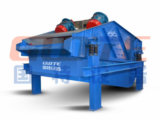 High Frequency Double Motors Linear Dewatering Vibrating Screen for Sale