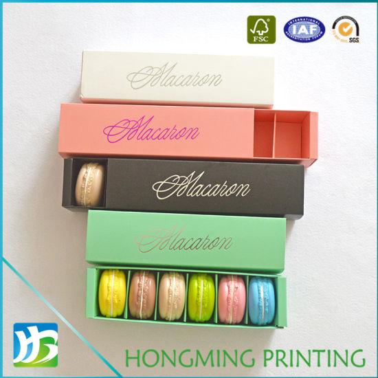 Custom Printed Paper Macaron Box with Sleeve