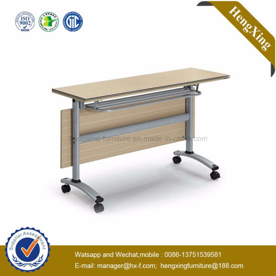 Traditional Glossing Traning Room Fashion Metal Curve Folding Office Furniture (HX-5D175)